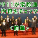 TPP11が衆議院通過 TPP11の内容をチェック<前篇>