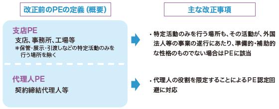 改正するPEの定義・解釈