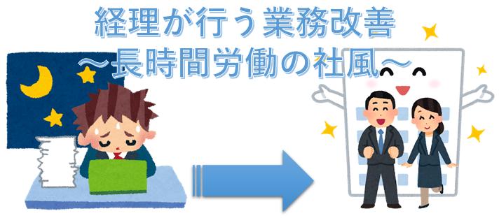 経理が行う業務改善~長時間労働の社風~