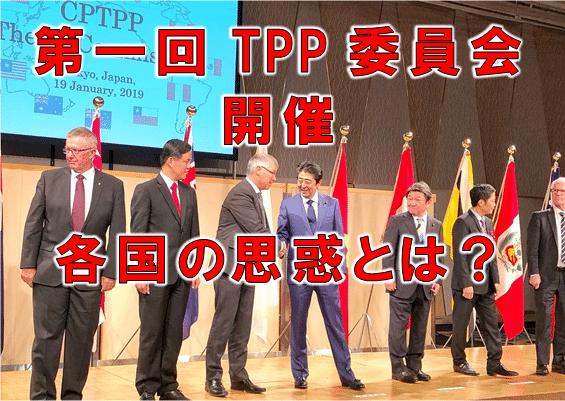 第一回TPP委員会開催 各国の思惑とは?